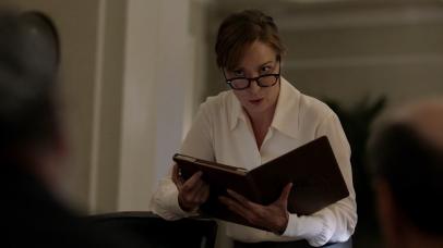 Elizabeth Marvel as President-elect Elizabeth Keane
