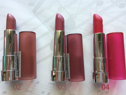 Lipsticks Essence 02 03 04
