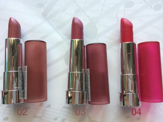Lipsticks Essence 02 03 04